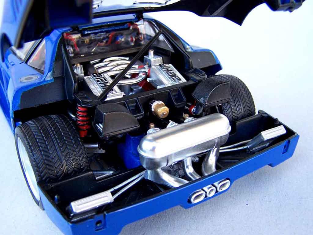 Ferrari F40 1/18 Burago stradale blue rfr sport