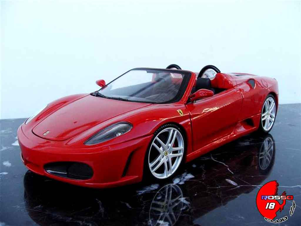 ferrari f430 spider red hot wheels diecast model car 1 18. Black Bedroom Furniture Sets. Home Design Ideas