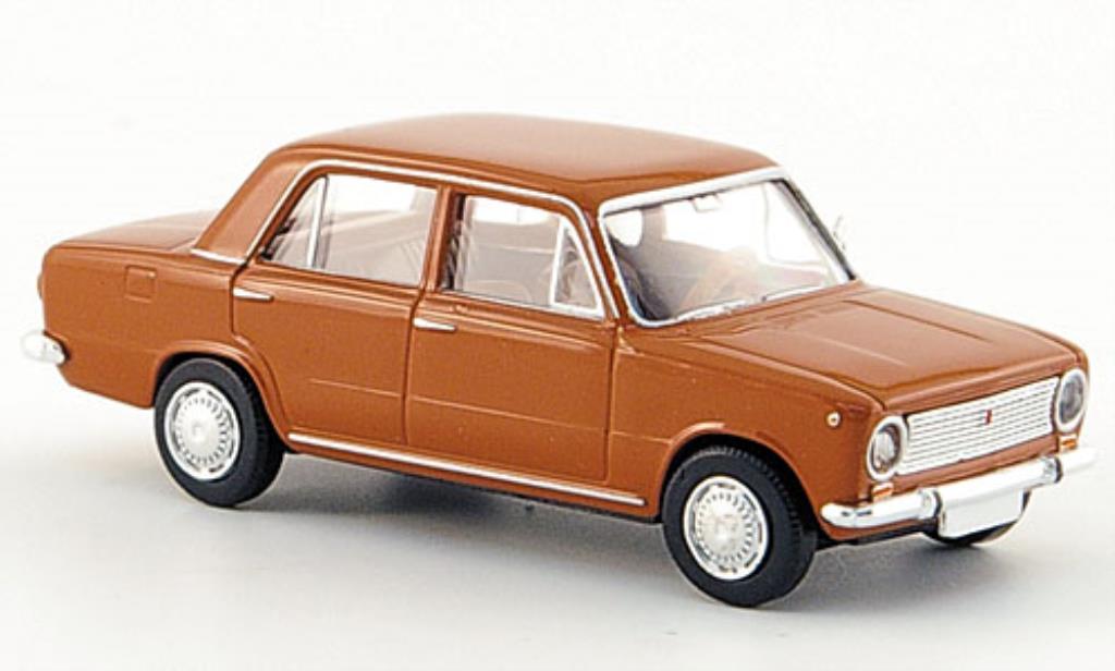 Fiat 124 1/87 Brekina Limousine marron miniature
