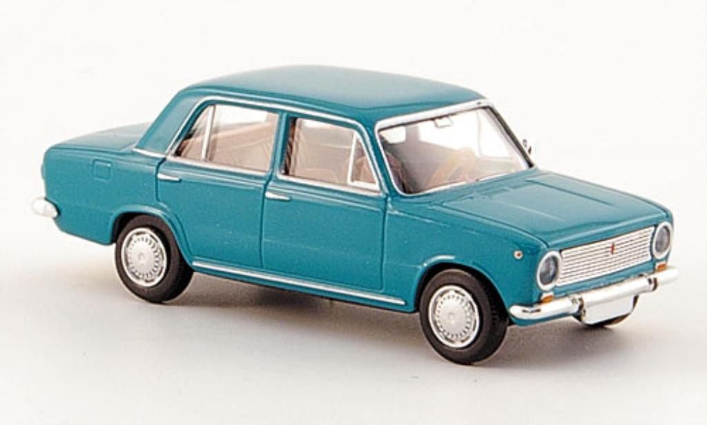 Fiat 124 1/87 Brekina Limousine turkis diecast model cars