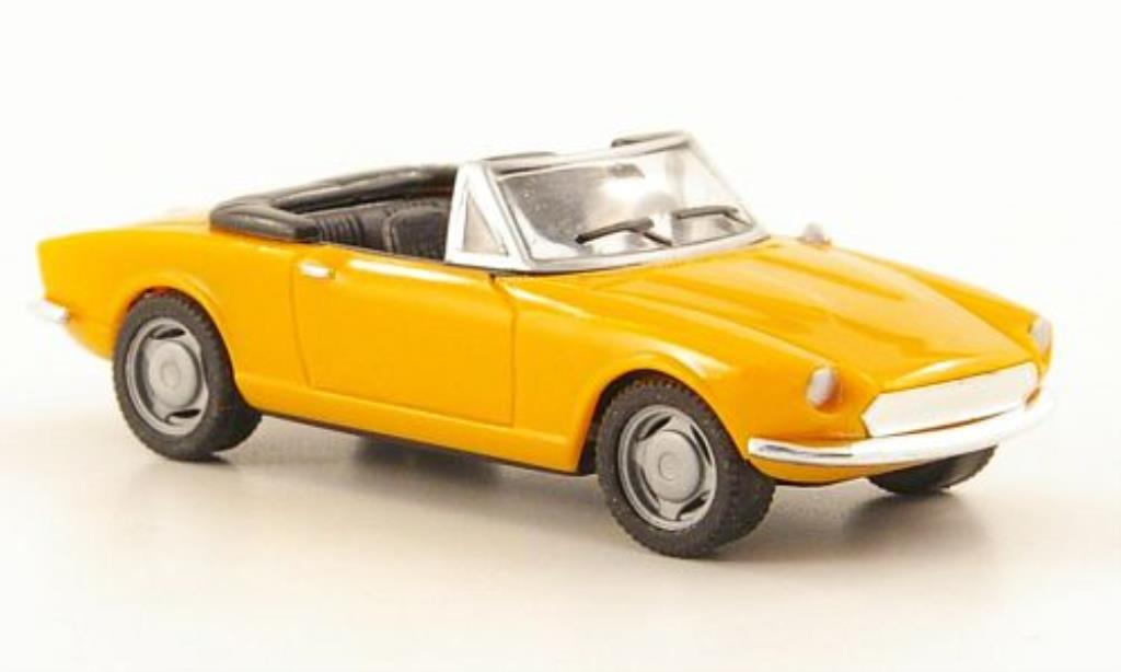 Fiat 124 Spider 1/87 Herpa orange miniature