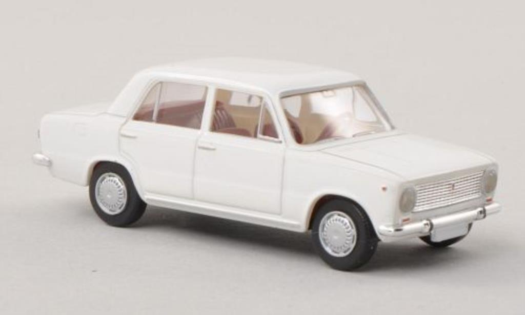 Fiat 124 1/87 Brekina white diecast model cars