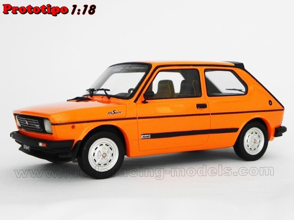 fiat 127 sport miniature 70 hp lm090b orange laudoracing models 1 18 voiture. Black Bedroom Furniture Sets. Home Design Ideas