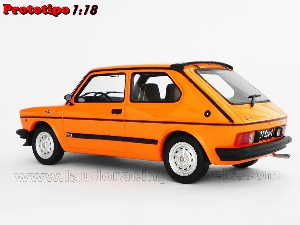 fiat 127 sport 70 hp lm090b orange laudoracing models. Black Bedroom Furniture Sets. Home Design Ideas