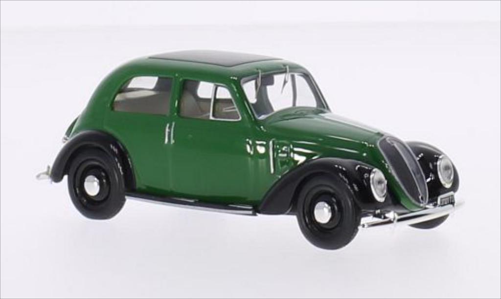 Fiat 1500 1/43 Best grun/noire miniature