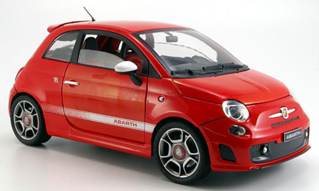 fiat 500 abarth miniature rouge 2008 motormax 1 18 voiture. Black Bedroom Furniture Sets. Home Design Ideas