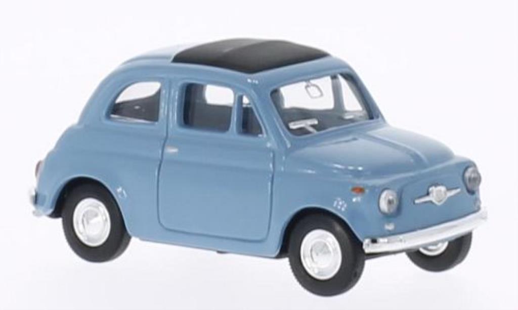 Fiat 500 1/43 Del Prado bleu miniature