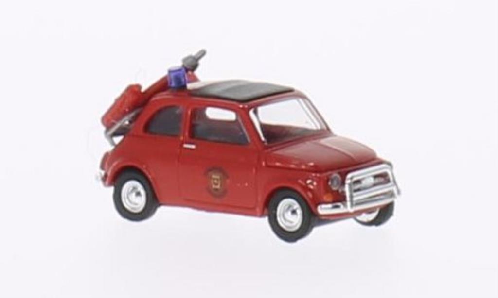 Fiat 500 1/87 Busch Brandweer Feuerwehr (NL) diecast model cars
