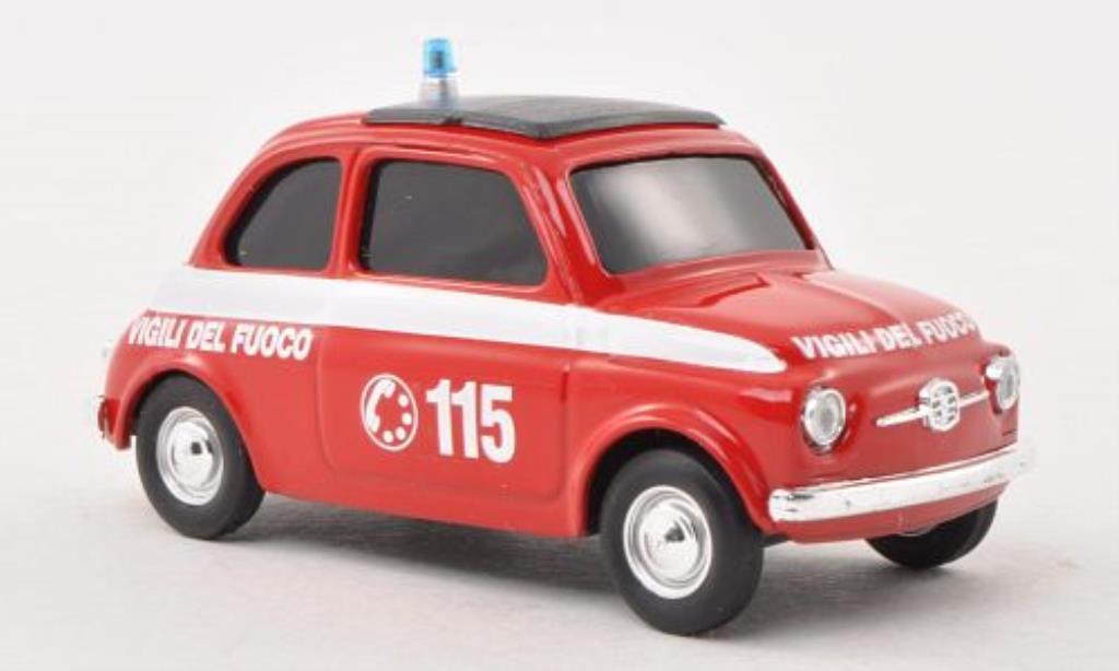 Fiat 500 1/43 Brumm Vigli del Fuoco diecast