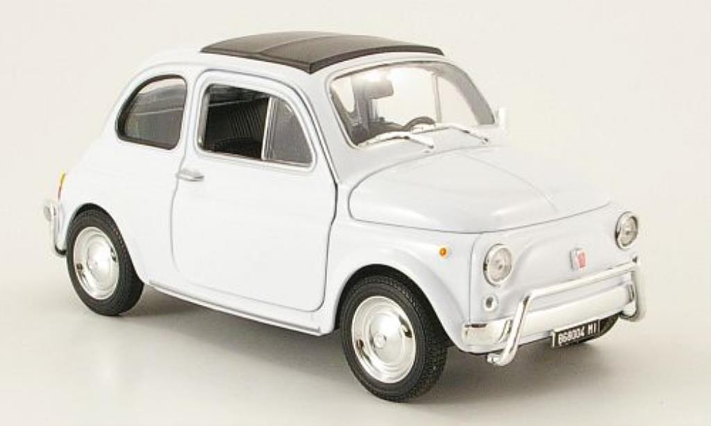 Fiat 500 1/24 Welly blanche miniature
