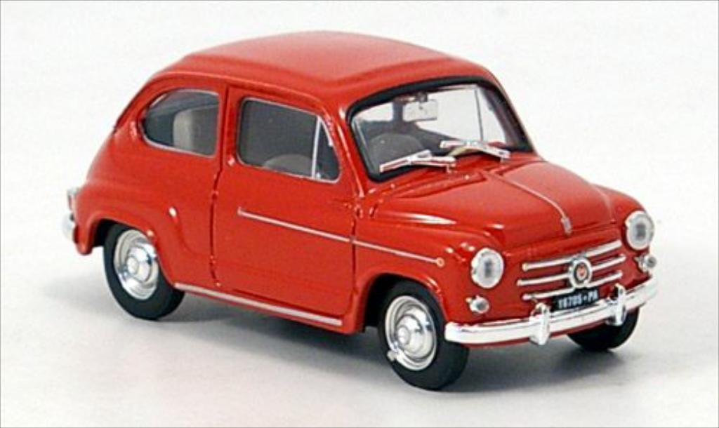 fiat 600 d red 1960 brumm diecast model car 1 43 buy sell diecast car on. Black Bedroom Furniture Sets. Home Design Ideas