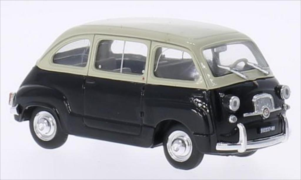 Fiat 600 1/43 Brumm Multipla D beige/black 1960 diecast model cars