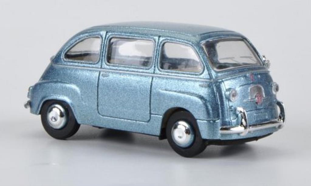 fiat 600 miniature multipla bleu brekina 1 87 voiture. Black Bedroom Furniture Sets. Home Design Ideas
