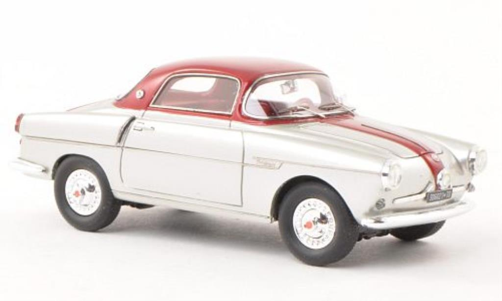 Fiat 600 1/43 Matrix Viotto Coupe grise/rouge miniature