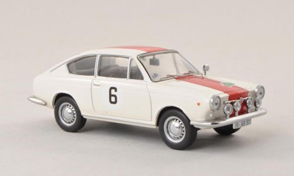 Fiat 850 1/43 IXO Coupe No.6 Rally Bavaria 1968 miniature