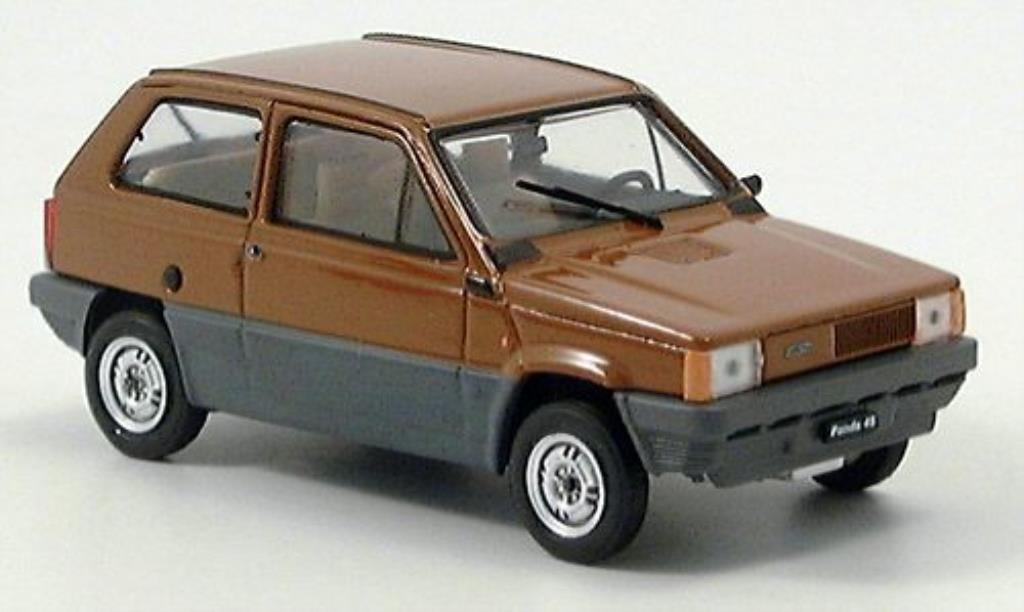 fiat panda miniature 45 braun 1980 brumm 1 43 voiture. Black Bedroom Furniture Sets. Home Design Ideas
