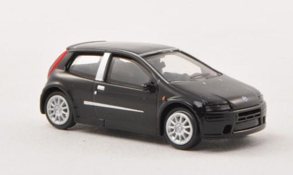 Fiat Punto 1/87 Busch black 2003 diecast model cars