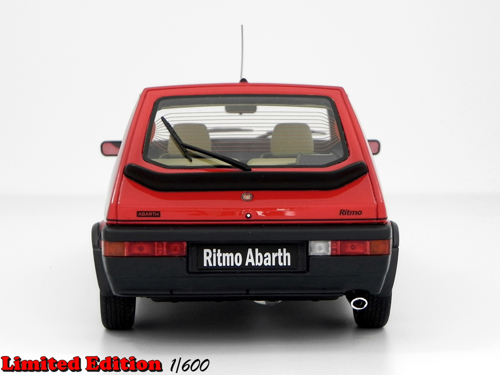 fiat ritmo 125 tc miniature abarth lm089 rouge laudoracing models 1 18 voiture. Black Bedroom Furniture Sets. Home Design Ideas
