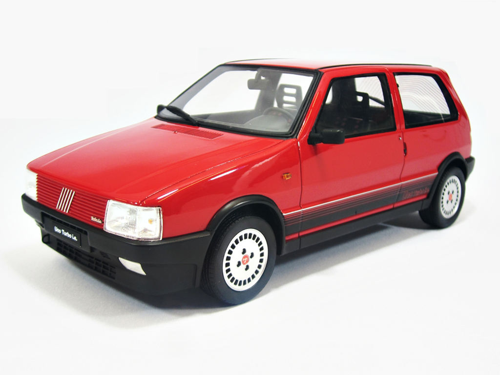 fiat uno turbo i e lm088 red 1987 laudoracing models. Black Bedroom Furniture Sets. Home Design Ideas