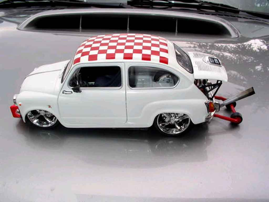 Fiat 850 1/18 Solido moteur vw tuning diecast model cars