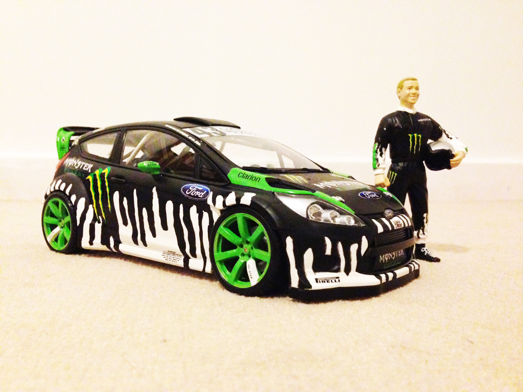 Ford Fiesta WRC 1/18 Minichamps Ken Block tuning miniature