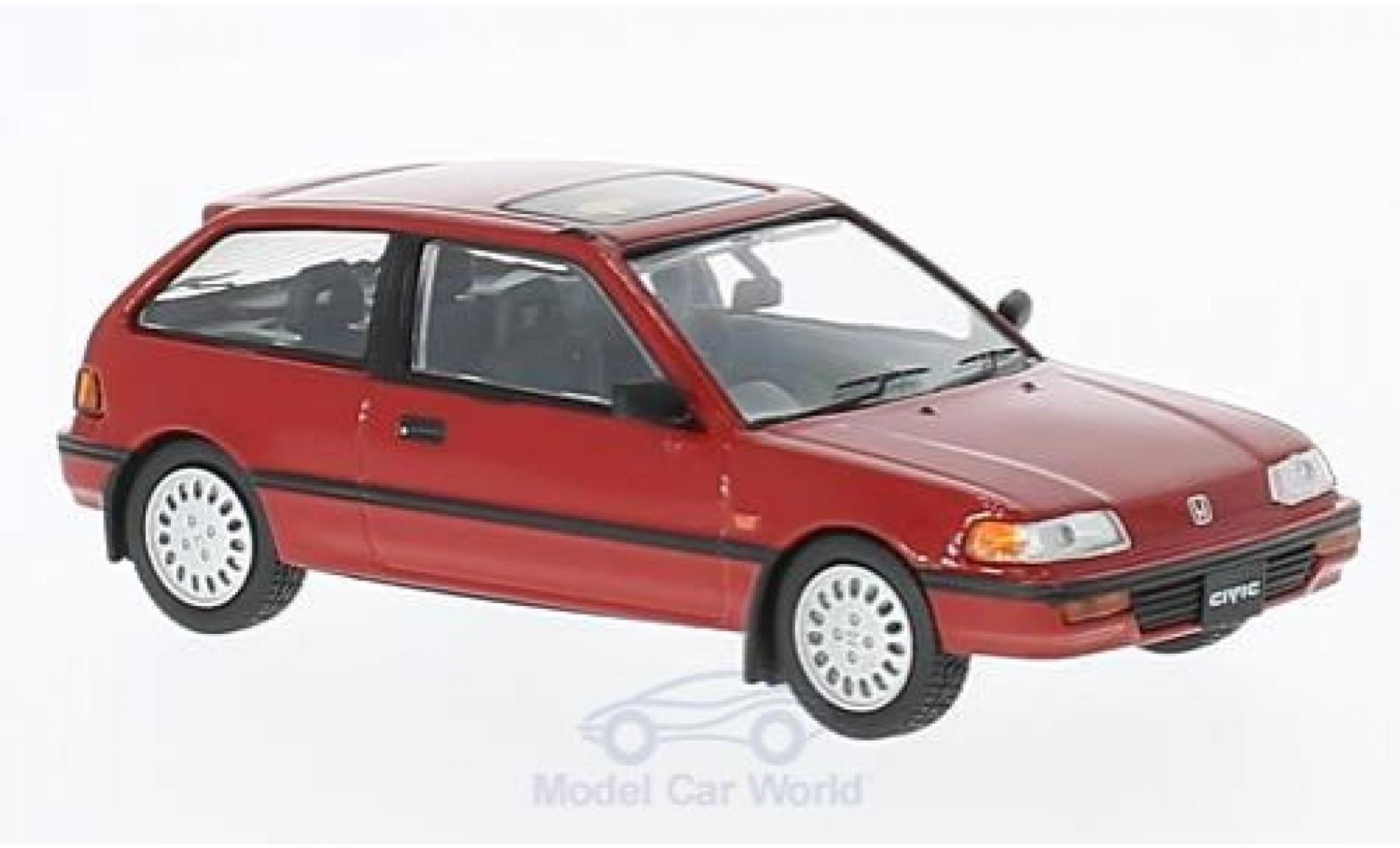 Honda Civic 1/43 First 43 Models rouge RHD 1987