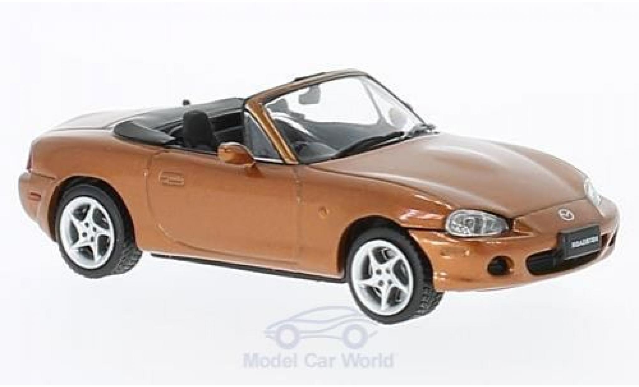 Mazda MX 1/43 First 43 Models -5 Roadster metallic-dunkelorange RHD 2001