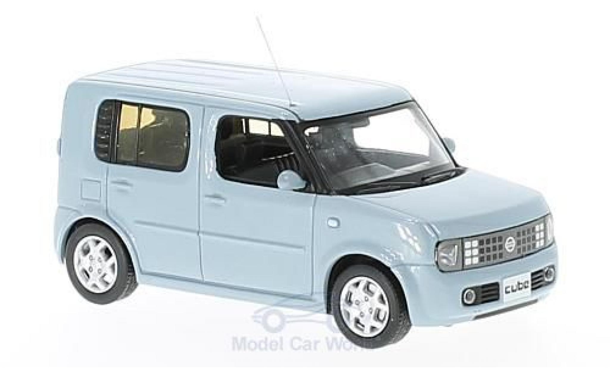 Nissan Cube 1/43 First 43 Models bleue RHD 2003