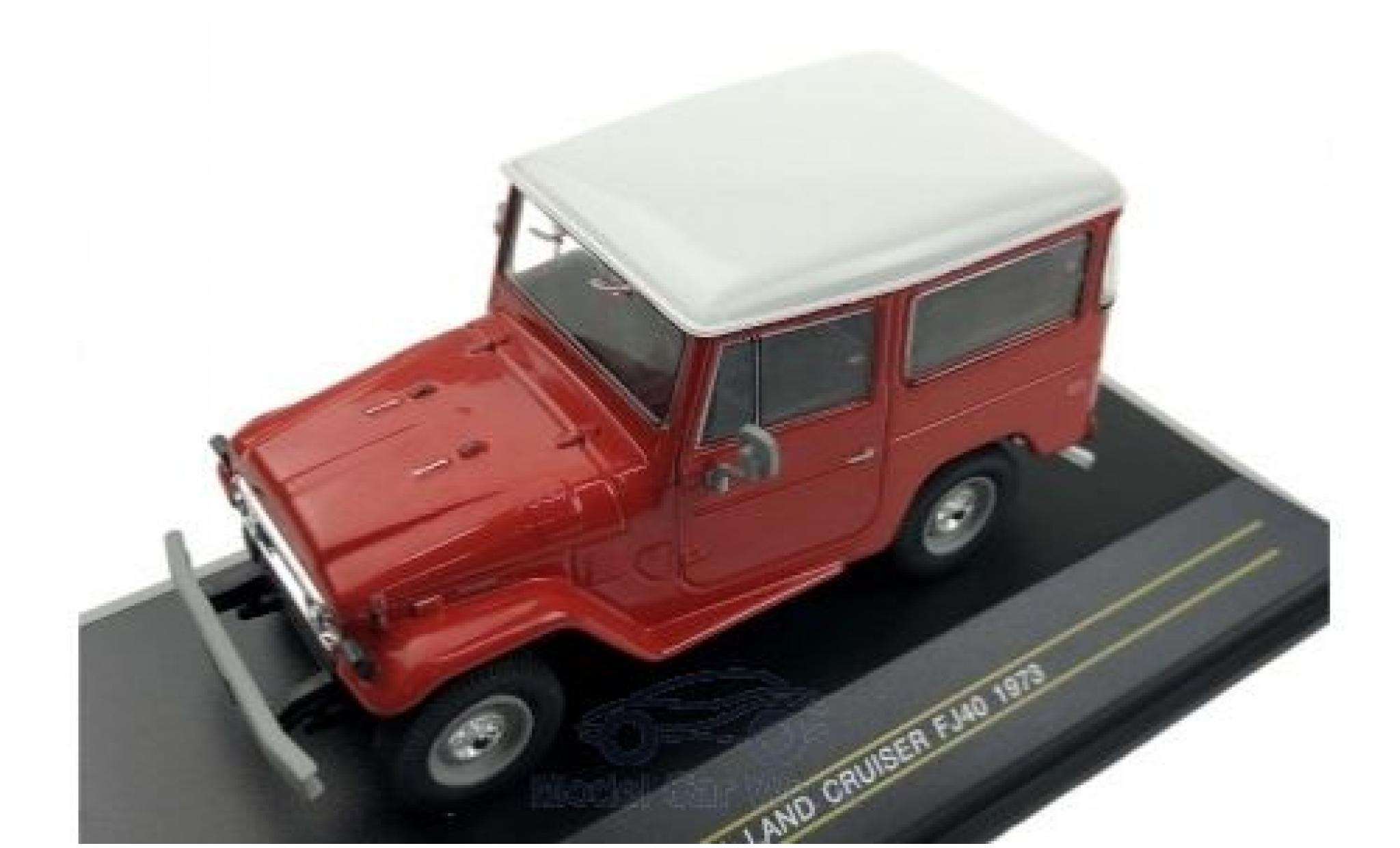 Toyota Land Cruiser 1/43 First 43 Models FJ 40 rouge/blanche 1973
