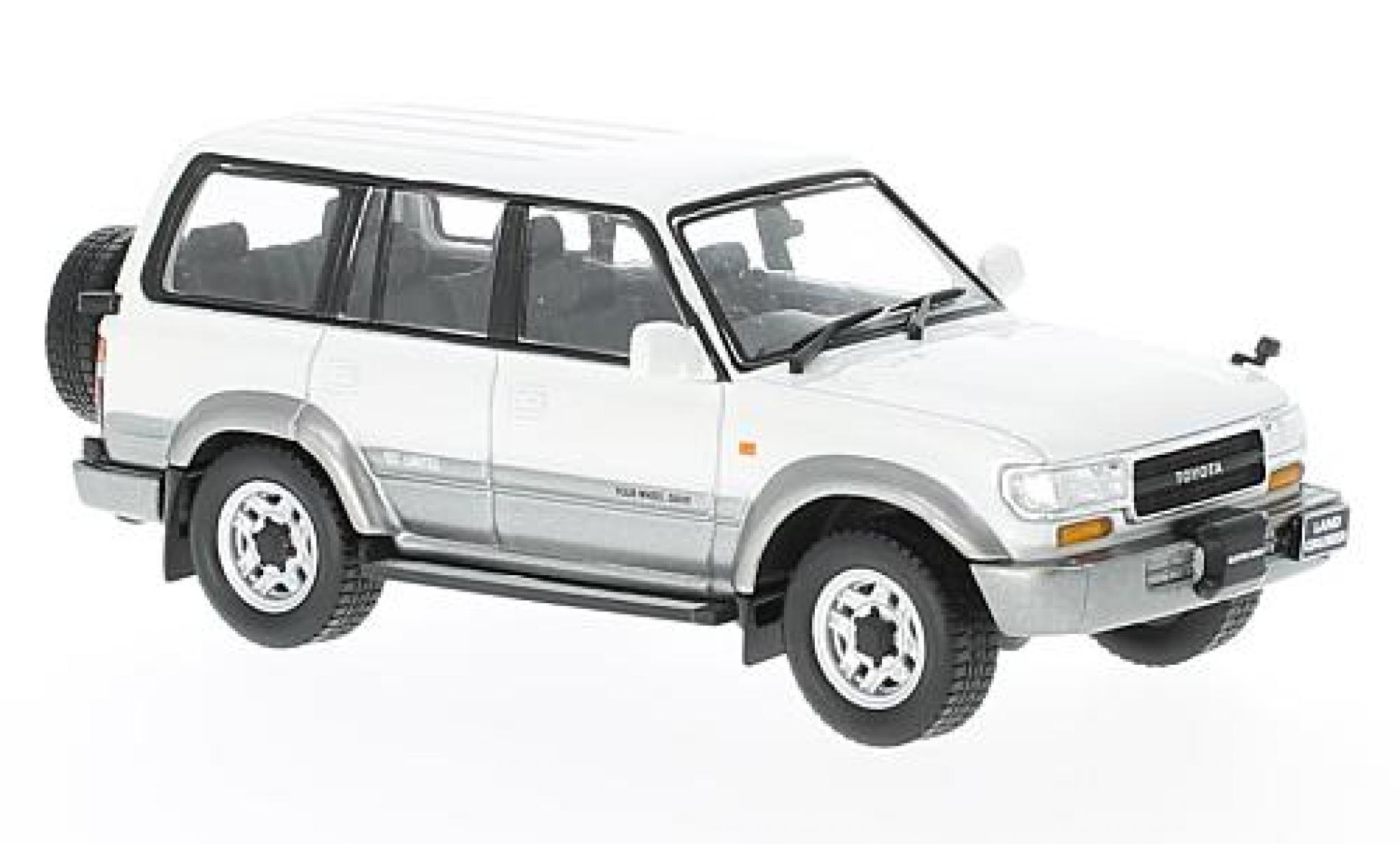 Toyota Land Cruiser 1/43 First 43 Models LC80 metallise blanche/grise RHD 1992