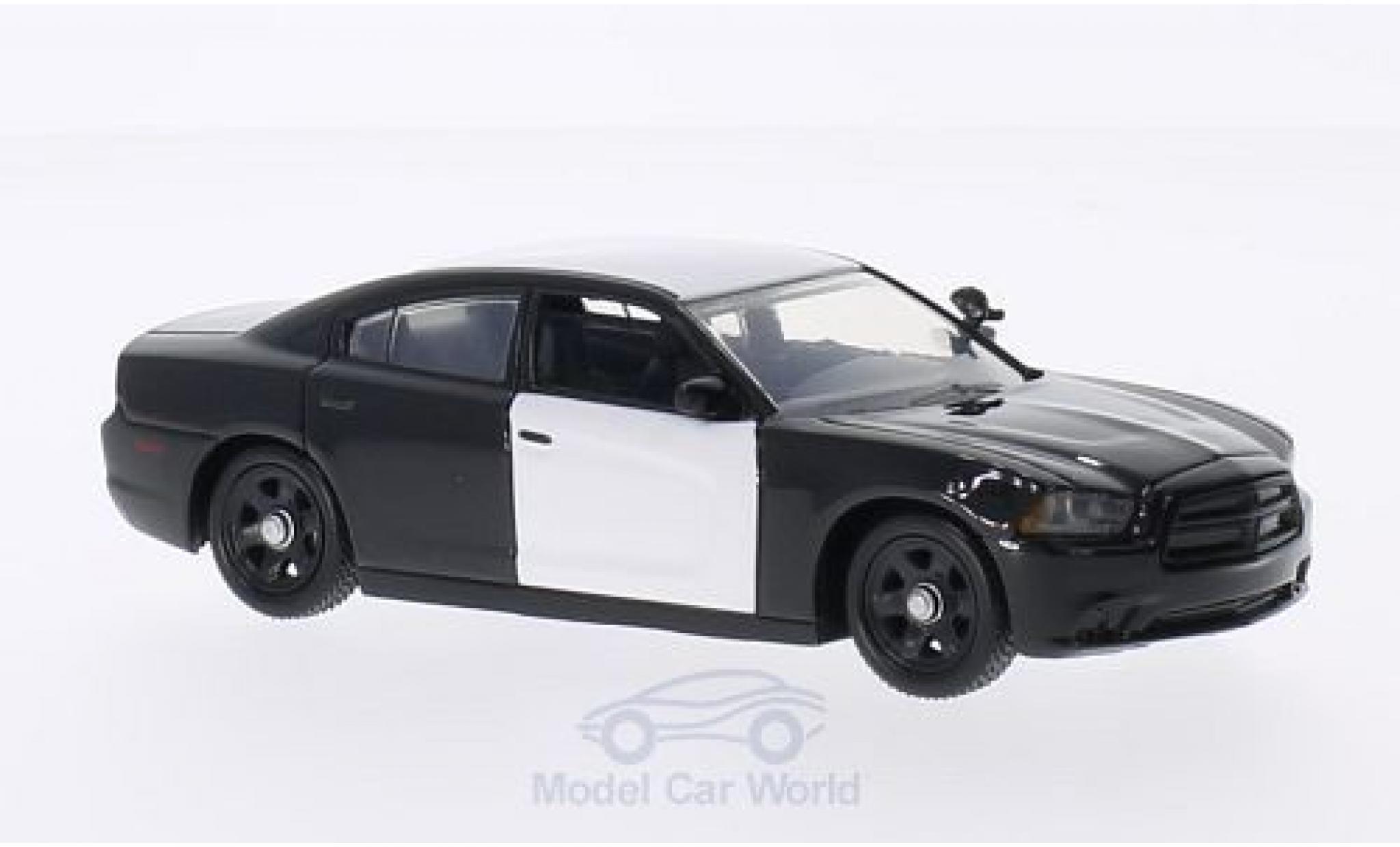 Dodge Charger 1/43 First Response undekoriertes Polizeifahrzeug black/white 2012 mit Zubehör