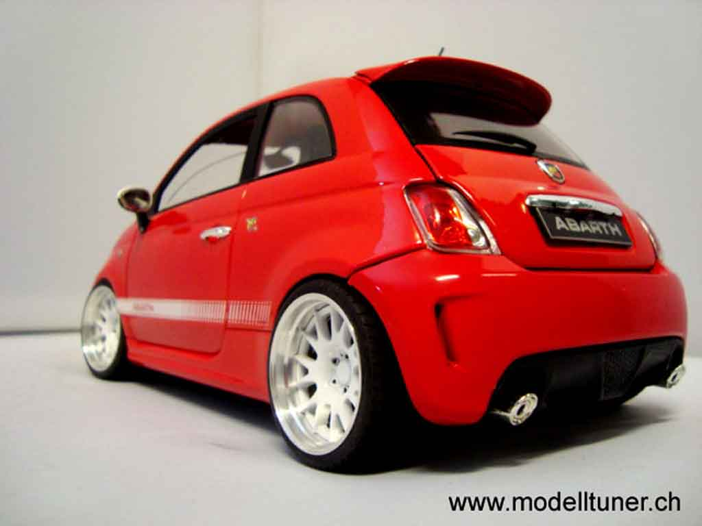 fiat 500 abarth miniature rouge 2007 mondo motors 1 18. Black Bedroom Furniture Sets. Home Design Ideas
