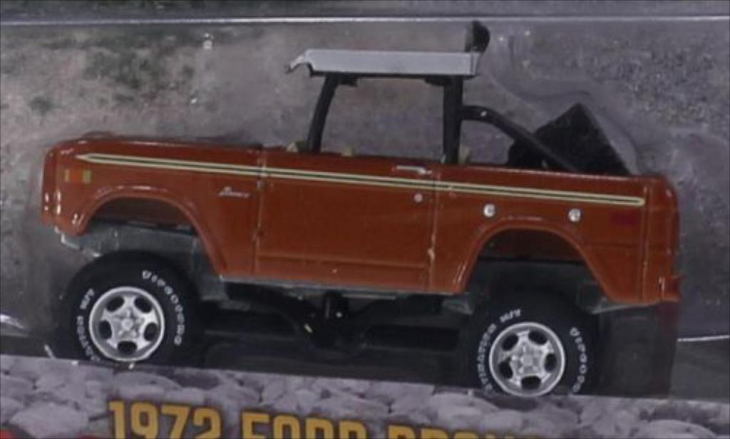 Ford Bronco 1/64 Greenlight Baja kupfer/matt-noire 1972 miniature