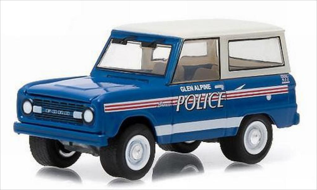 Ford Bronco 1/64 Greenlight Glen Alpine Police 1967 miniature