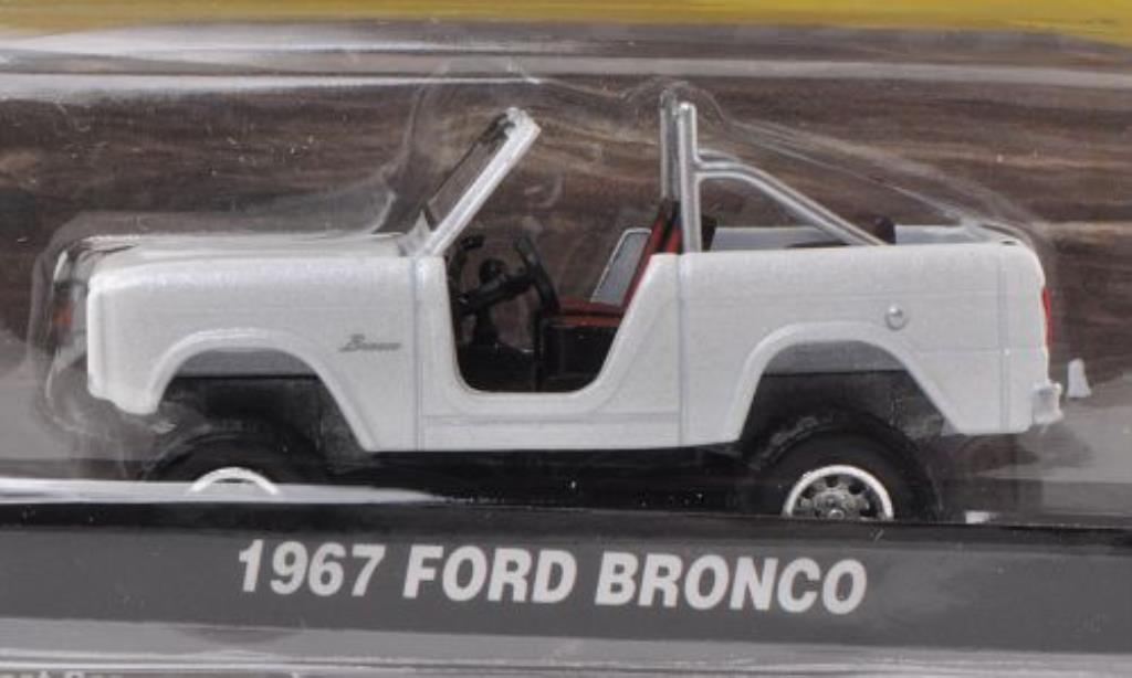 Ford Bronco 1/64 Greenlight blanche 1967 miniature