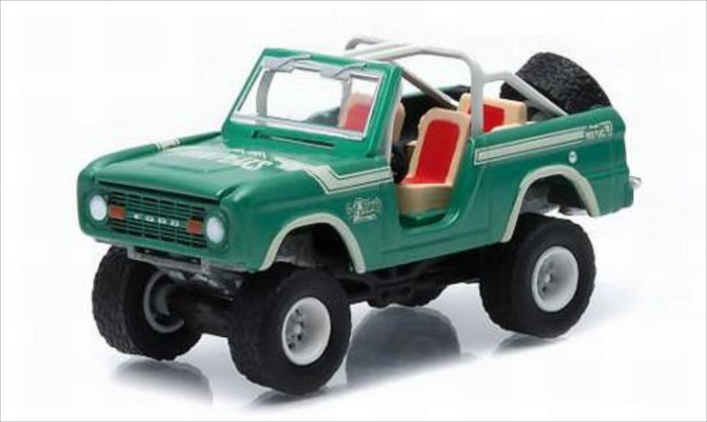 Ford Bronco 1/64 Greenlight metallise grun/Dekor Twin Peaks 1976 miniature