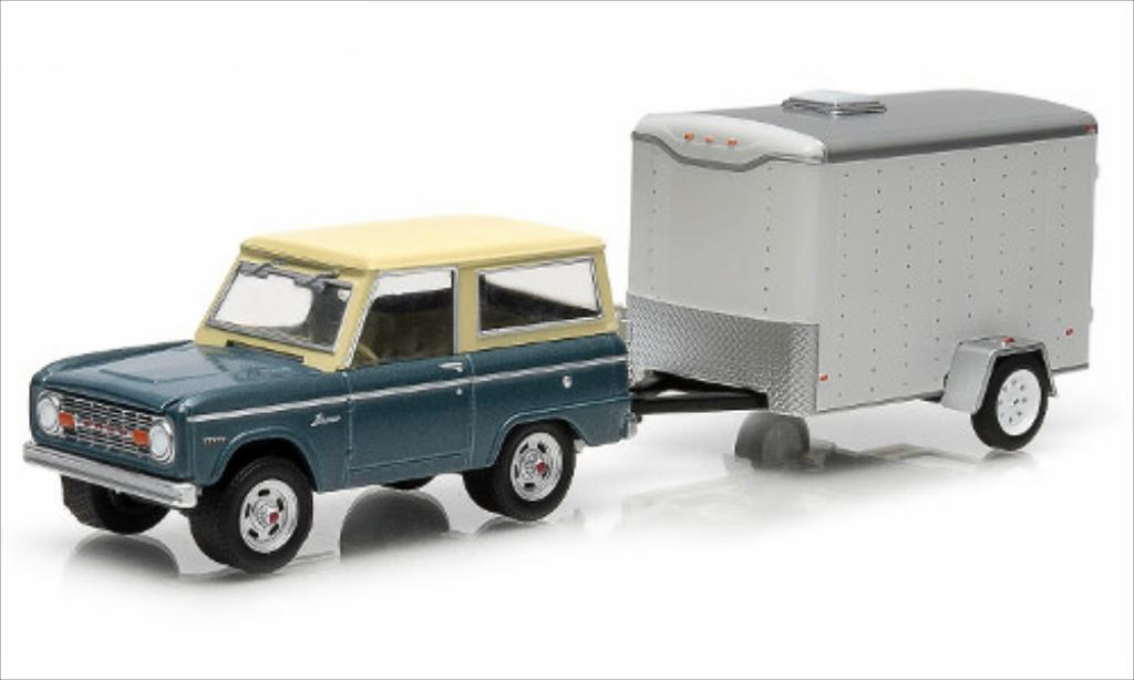 Ford Bronco 1/64 Greenlight mit 1-Achs-Kastenhanger 1967 miniature