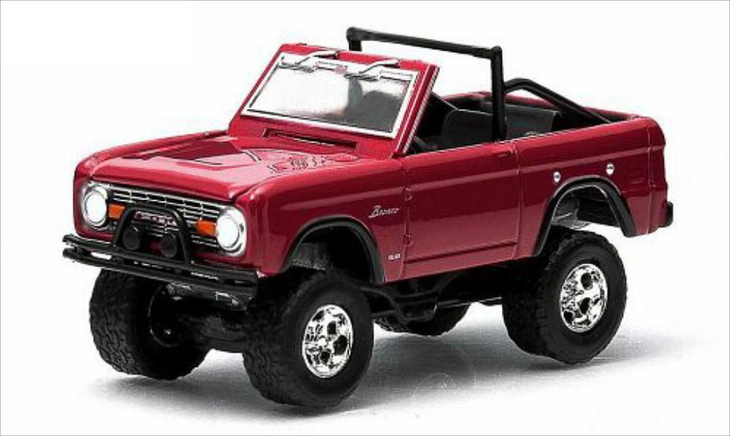 Ford Bronco 1/64 Greenlight rouge 1974 miniature