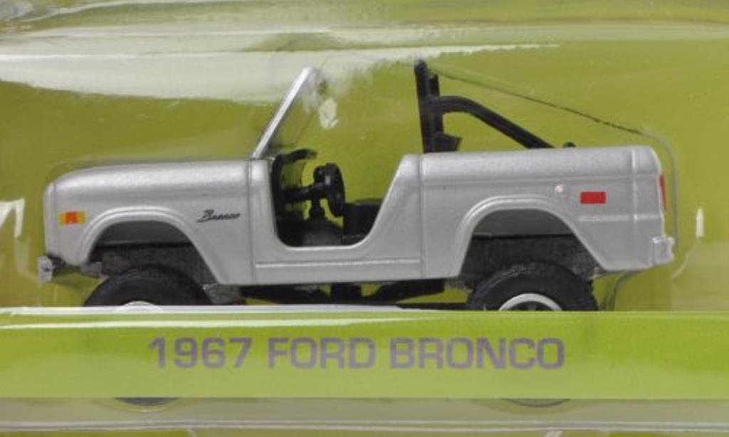 Ford Bronco 1/64 Greenlight grise Zoolander 1967 miniature