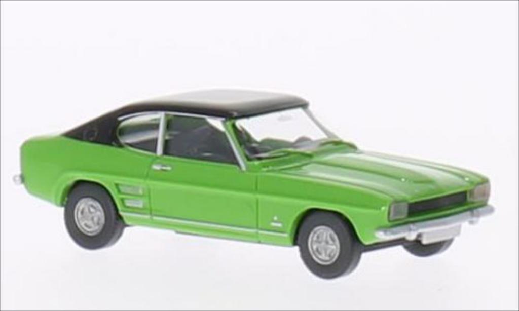 Ford Capri 1/87 Wiking MK I grun/noire miniature