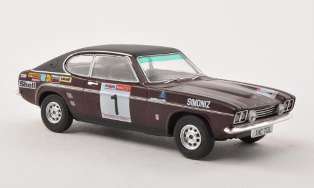 Ford Capri 1/43 Vanguards Mk1 3000GT No.1 Avon Tour of Great Britain 1973 /T.Mason miniature