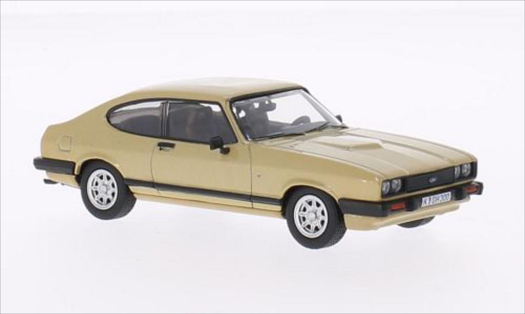 Ford Capri 1/43 Vanguards Mk3 3.0 Ghia gold miniature