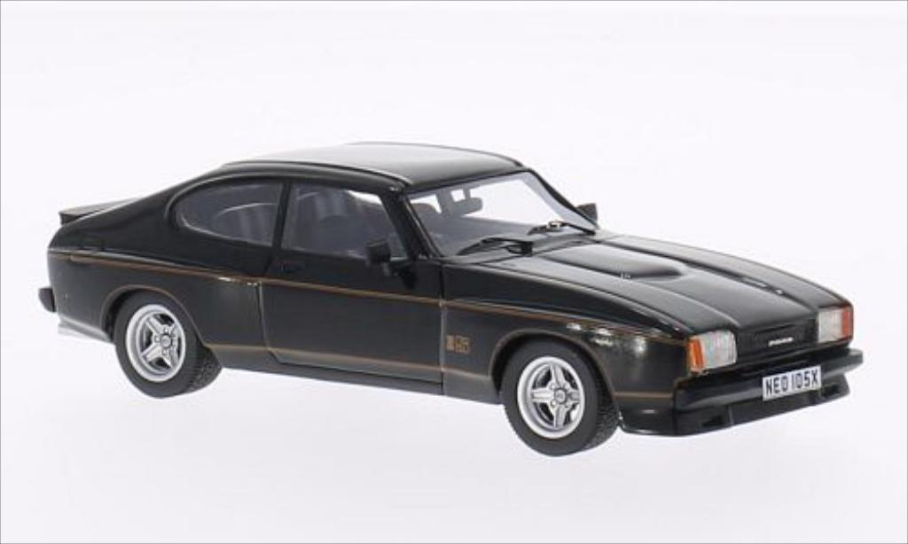 Ford Capri 1/43 Neo MKII 3.0S X-Pack noire 1976 miniature