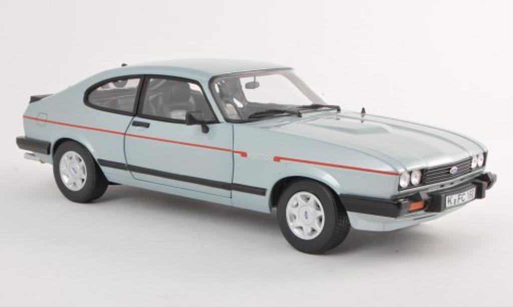 Ford Capri 1/18 Norev MkIII 2.8i grise-bleu 1982 miniature