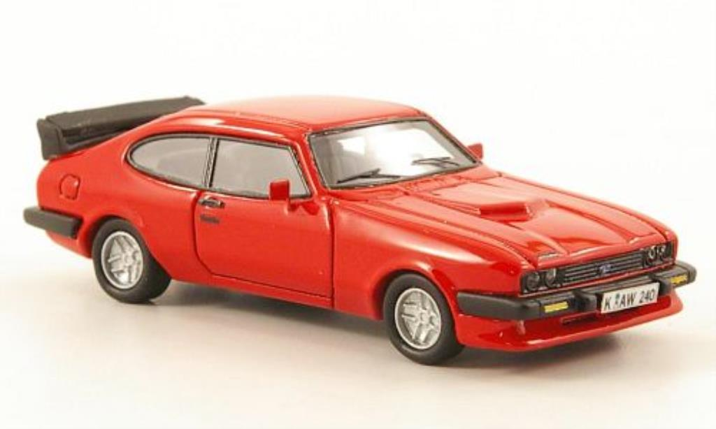 Ford Capri 1/87 Neo MkIII Turbo rouge miniature