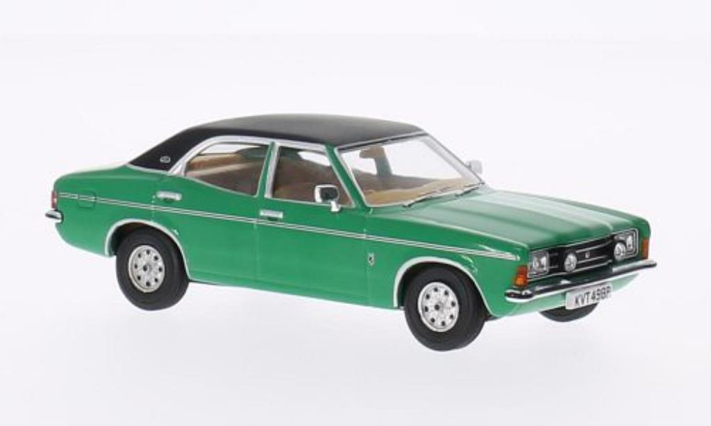 Ford Cortina 1/43 Vanguards Mk3 2000E grun/noire miniature