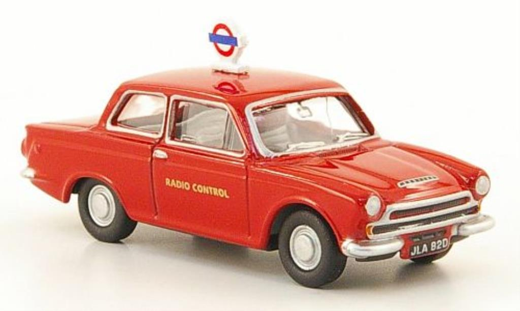 Ford Cortina 1/76 Oxford MKI London Transport rouge miniature
