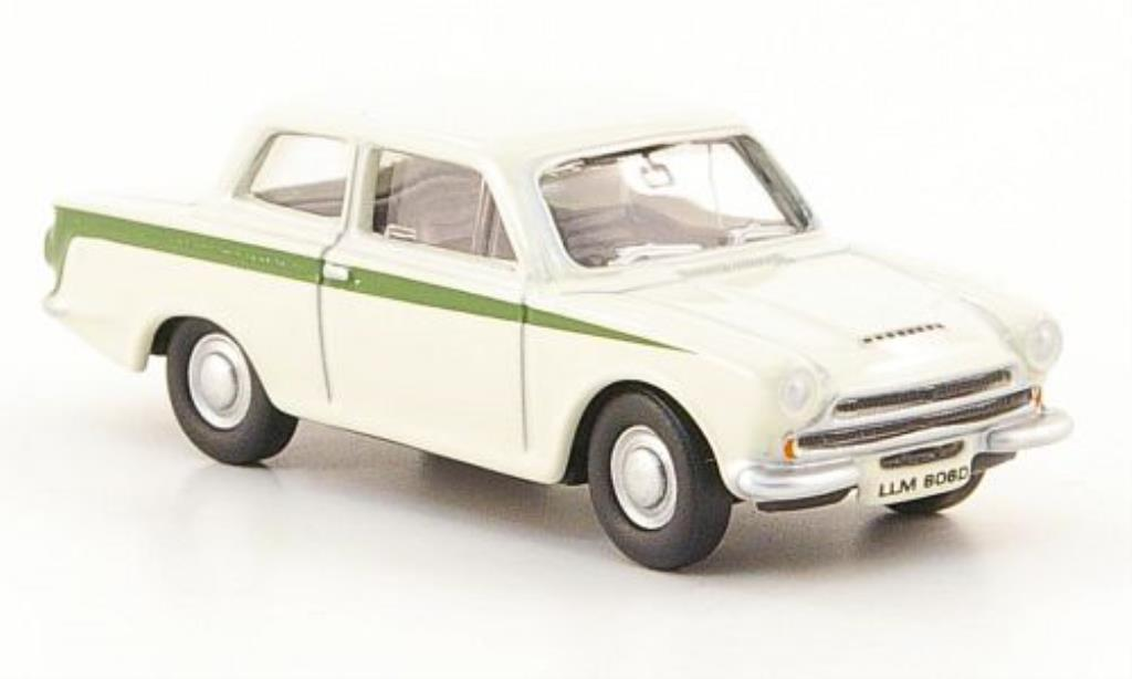 Ford Cortina 1/76 Oxford MKI blanche miniature