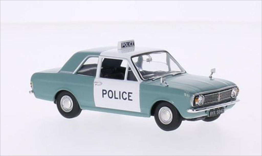 Ford Cortina 1/43 Vanguards MkII 1300 De Luxe RHD Manchester & Salford Police miniature