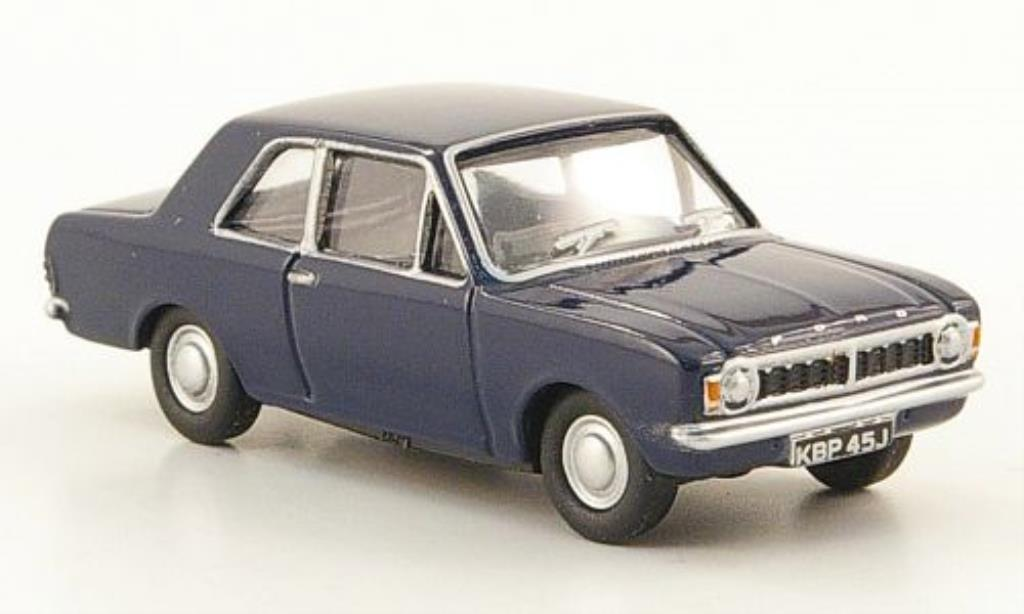 Ford Cortina 1/76 Oxford MKII bleu miniature